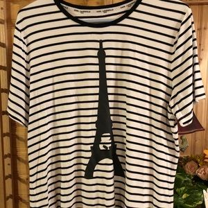 Striped Eiffel Tower T-shirt